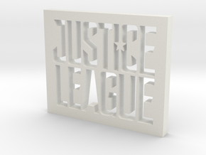 Justice League Logo in White Natural Versatile Plastic