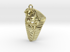 Pharaoh Skull in 18k Gold Plated Brass