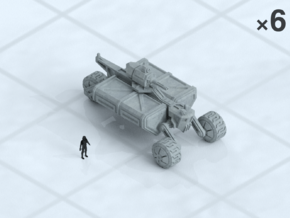 6mm Armed Wheeled Transport (8) in Smooth Fine Detail Plastic