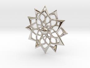 851 Flower Pendant in Platinum