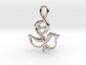 Innocent flower in Rhodium Plated Brass