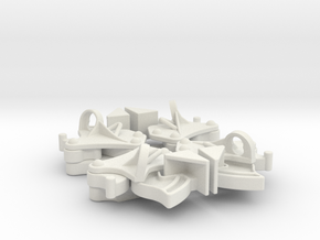 Hopper pocket latches (4) in White Natural Versatile Plastic