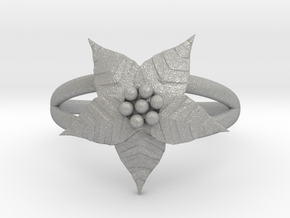 Poinsettia - The Ring of December  in Aluminum