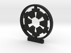 Galactic Empire Logo in Black Natural Versatile Plastic