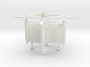 (1:285) Bratukhin Transport VTOL Aircraft in White Natural Versatile Plastic