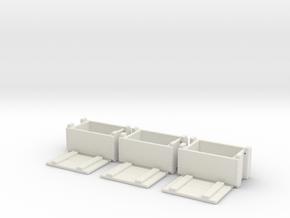 1/10 scale ammunition & grenade MilSpec crates x 3 in White Natural Versatile Plastic