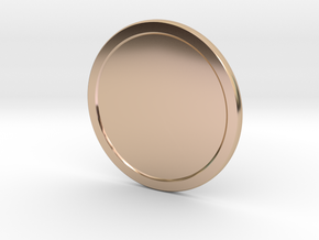 Sunlight Medal v2 in 14k Rose Gold Plated Brass