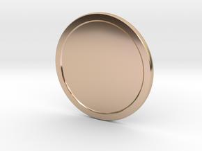Sunlight Medal v2 in 14k Rose Gold Plated Brass
