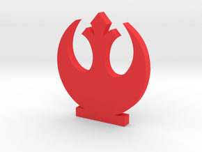 Rebel Alliance Symbol in Red Processed Versatile Plastic