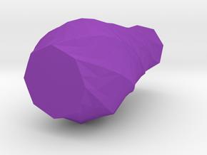 Spiral Low Poly Vase in Purple Processed Versatile Plastic: Medium