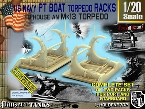1/20 PT Torpedo Rack TypB in Smooth Fine Detail Plastic