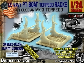 1/24 PT Torpedo Rack TypB Empty in Smooth Fine Detail Plastic