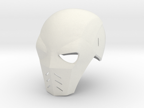 Deathstroke Arrow: Season 2 helmet without jaw pie in White Natural Versatile Plastic