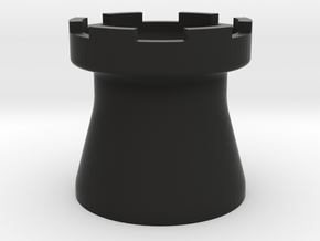 Tower Mug Smooth in Black Natural Versatile Plastic