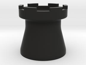 Tower Mug Smooth in Black Natural Versatile Plastic