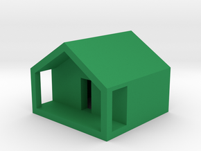 Monopoly Cottage in Green Processed Versatile Plastic