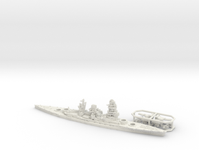 IJN BB Mutsu [1941] in White Natural Versatile Plastic: 1:1800