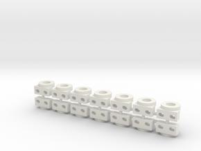 7 Satz Kugellagerhalter Carrera Universal Uni 132 in White Natural Versatile Plastic