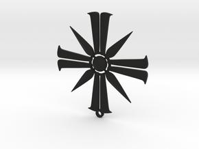 Far Cry 5 Eden's Gate pendant in Black Premium Versatile Plastic