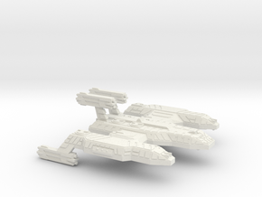 3788 Scale Lyran Cave Lion Battleship (BB) CVN in White Natural Versatile Plastic