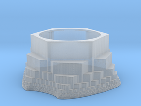 Fractal Hexagonal Tealight Holder in Smooth Fine Detail Plastic