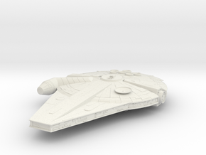 New Han Solo's Millennium Falcon in White Natural Versatile Plastic