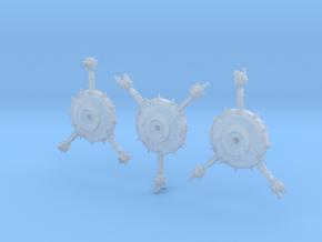 Orbital Defense Platforms (3) in Smooth Fine Detail Plastic