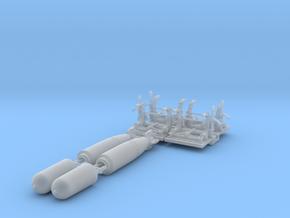 1/72 Torpedo Mk13 W Rack For PT Boat Set004 in Smooth Fine Detail Plastic