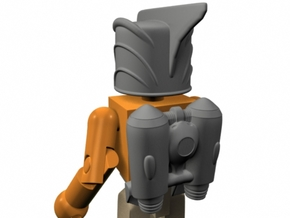 Rocketeer Helmet & Jetpack for Minimate (w/o fron in Frosted Ultra Detail