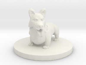 Corghound 2: Gary (Small Fiend) in White Natural Versatile Plastic
