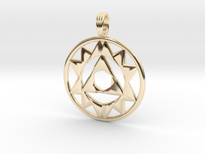 TRIOCULUS in 14k Gold Plated Brass