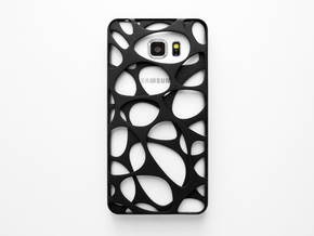 Samsung Galaxy Note 5 Case_Voronoi in Black Natural Versatile Plastic