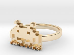 Game Over  in 14K Yellow Gold: 6 / 51.5