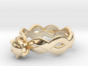 Double wave in 14k Gold Plated Brass: 5 / 49
