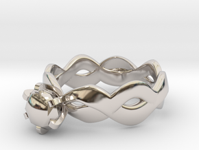 Double wave in Rhodium Plated Brass: 5 / 49