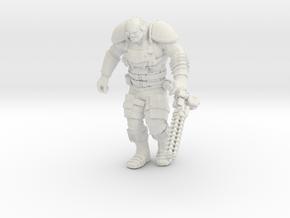 Mutant Overseer with Gauss Minigun in White Natural Versatile Plastic