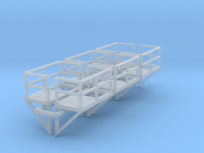 N Scale Cage Ladder Platform L+R 6pc in Frosted Ultra Detail
