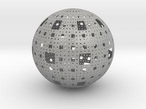 Menger Sphere in Aluminum