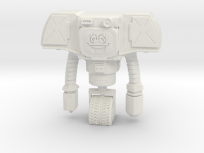 Securitry Droid with Smiley Face in White Natural Versatile Plastic