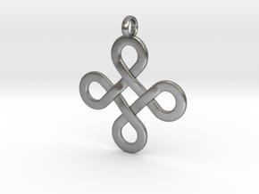 Celticknot Pendant in Natural Silver