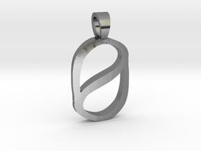 Zero [pendant] in Polished Silver