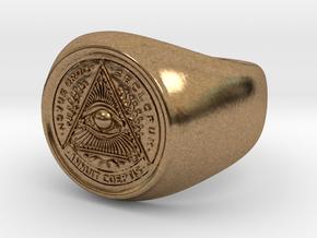 Illuminati Ring in Natural Brass: 6.25 / 52.125