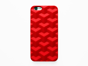 iPhone 6S case_Cube in Red Strong & Flexible Polished