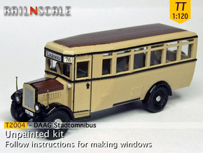 Stadtomnibus (TT 1:120) in Smooth Fine Detail Plastic