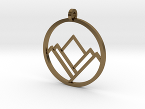 A Mountain in A Circle in Polished Bronze
