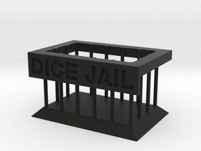 Dice Shaming Dice Jail in Black Natural Versatile Plastic