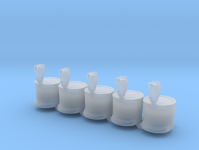 5 x French Shako Tp Acrylate in Smooth Fine Detail Plastic