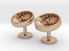 Jet Engine Cufflinks in 14k Rose Gold