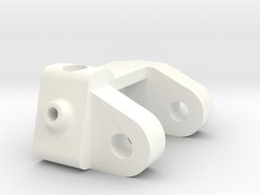 1/5 Scale Caster Block, LH in White Processed Versatile Plastic