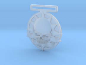 Small Tournament Medal : Blank Halo Skull  in Smooth Fine Detail Plastic